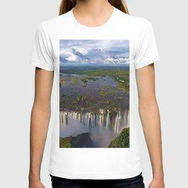 Victoria Falls with Rainbow, Zambia and Zimbabwe, Africa T-shirt