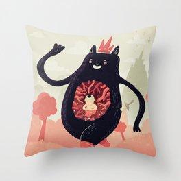 King eats King Throw Pillow