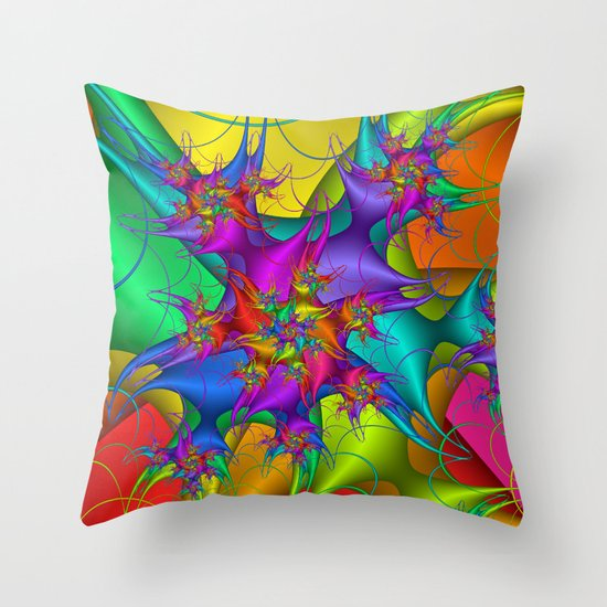 Explosion in a paint factory! Throw Pillow