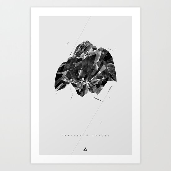 Shattered Spaces Art Print