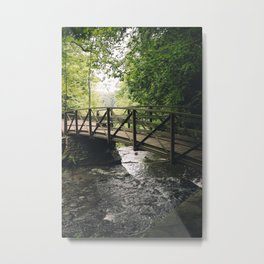 Wooden Bridge at Letchworth Metal Print