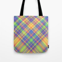 plaid Tote Bags featuring Plaid by Lyle Hatch