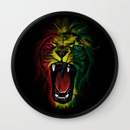 Rasta Roar Wall Clock