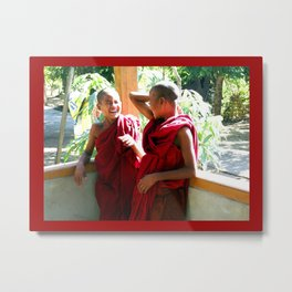 Laughter at th Monastey, Myanmar Metal Print