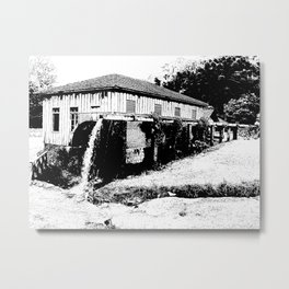 water mill house Metal Print