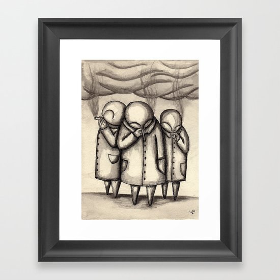 The Smokers Framed Art Print