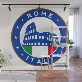 Rome, Italy, with flag Wall Mural