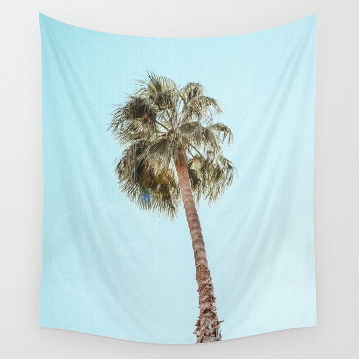 Single Palm Wall Tapestry