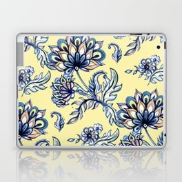 yellow and blue batik Laptop & iPad Skin