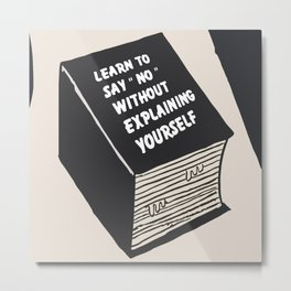 [Quotes] Thick Book Metal Print