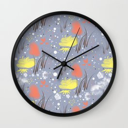 abstract flowy Wall Clock