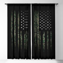 Khaki american flag Blackout Curtain