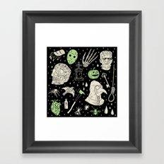 Whole Lot More Horror: BLK Ed. Framed Art Print