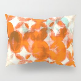 circles, orange art, geometric print, modern painting, mid century art, abstract art Pillow Sham