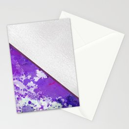 Abstract violet lilac white watercolor paint splatters Stationery Cards