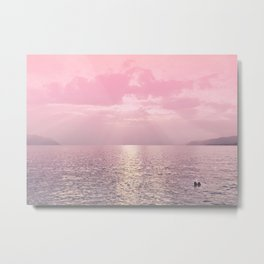 Kiss In The Lake At Sunset Metal Print