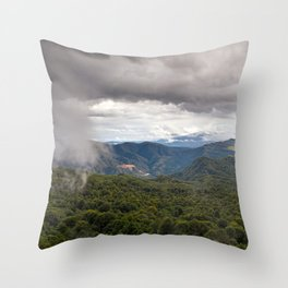 CLOUDS ABOVE THE FOREST Throw Pillow