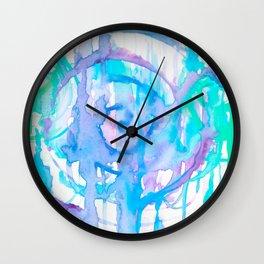 Mermaid Spirals Wall Clock