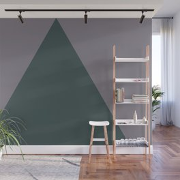 Night Watch PPG1145-7  Triangle and Magic Dust Muted Purple PPG13-24 Geometric Shapes Minimal Art Wall Mural