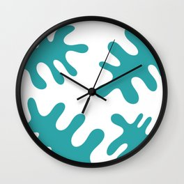 four green leaves Wall Clock