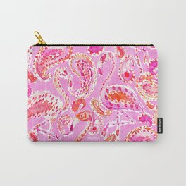FLAMINGO CONVO Pink Paisley Print Carry-All Pouch