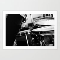 drums Art Prints featuring Drums by Jazzy Cheveres