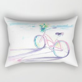 Bike at the Seashore Rectangular Pillow