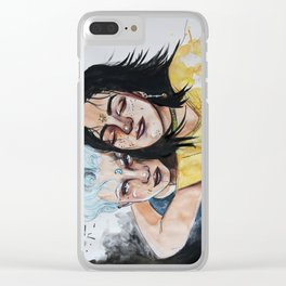 """The raven cycle """"Noah and Blue"""" Clear iPhone Case"""