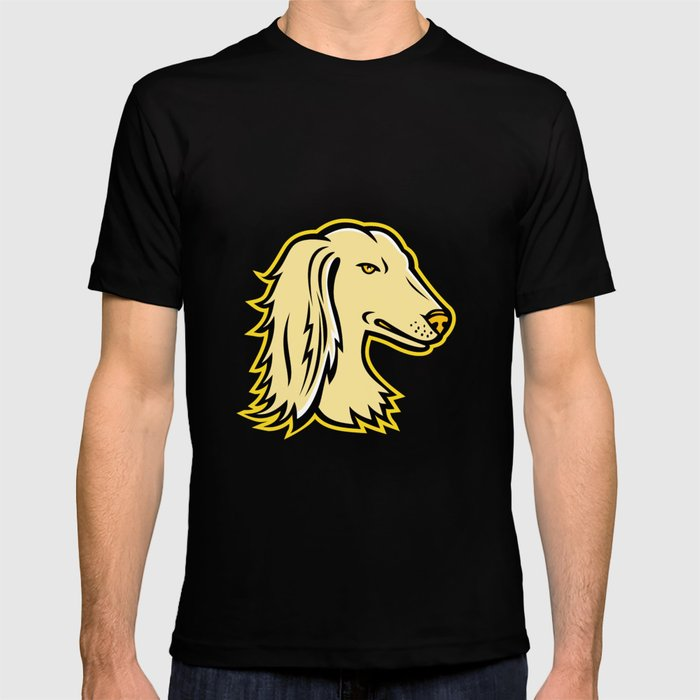 Saluki or Persian Greyhound Mascot T-shirt by patrimonio