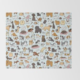 Doggy Doodle Throw Blanket