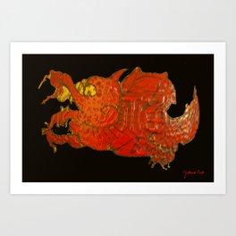 Den Draak Art Print