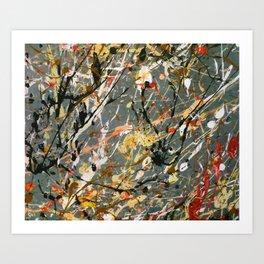 Jackson Pollock Interpretation Acrylics On Canvas Splash Drip Action Painting Art Print