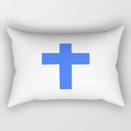 Christian Cross 9- blue Rectangular Pillow