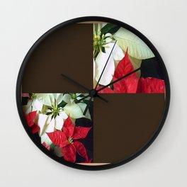 Mixed Color Poinsettias 2 Blank Q3F0 Wall Clock