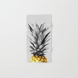Gray and golden pineapple Hand & Bath Towel