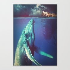 The Whale and the Wolf Canvas Print