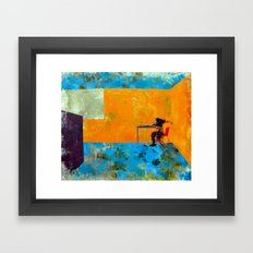 Eating at the Table Framed Art Print