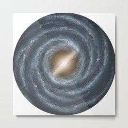 The Milky Way Map of JPL and NASA Metal Print