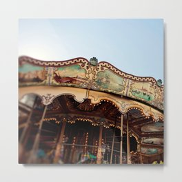 Carousel in Marseille Metal Print