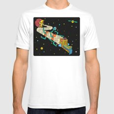 Creation. MEDIUM White Mens Fitted Tee