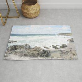 Cornwall coastline Rug