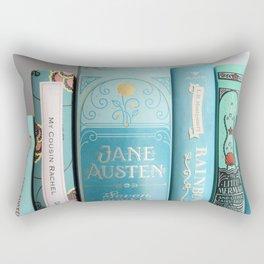 Shelfie in Aqua Rectangular Pillow