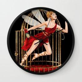 Vintage Bitter Campari Fairy Lithograph Advertisement Wall Clock