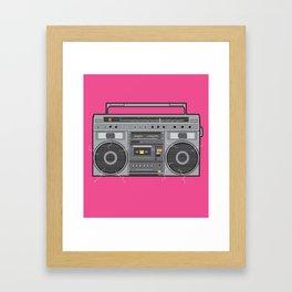 Boom Box Framed Art Print