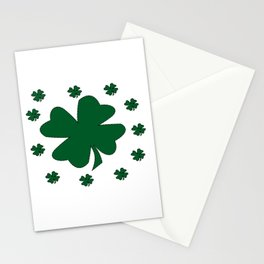 St. Patrick's Day Lucky Clovers Stationery Cards