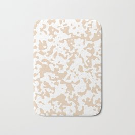 Spots - White and Pastel Brown Bath Mat
