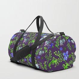 Opossum, Fern, & Violet Print Duffle Bag