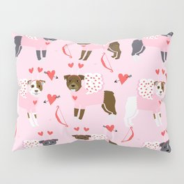 Pitbull valentines dog breed pibble love rescue dogs pure breed Pillow Sham
