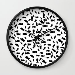 Black fishes Wall Clock