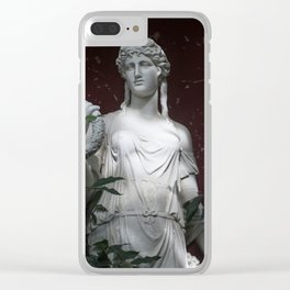 Ancient statue. Clear iPhone Case